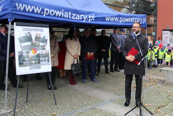 Ilustracja do informacji: Oficjalne otwarcie ul. Bohaterów i E. Plater w Lubsku