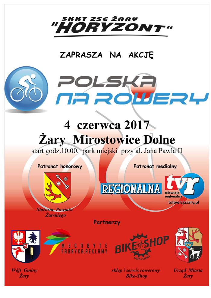 Ilustracja do informacji: Polska na rowery