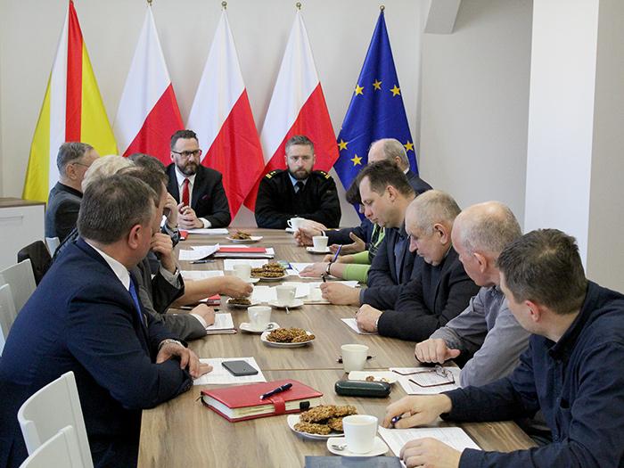 Ilustracja do informacji: Posiedzenie Zarządu i Komisji Rewizyjnej Oddziału Powiatowego ZOSP RP Powiatu Żarskiego