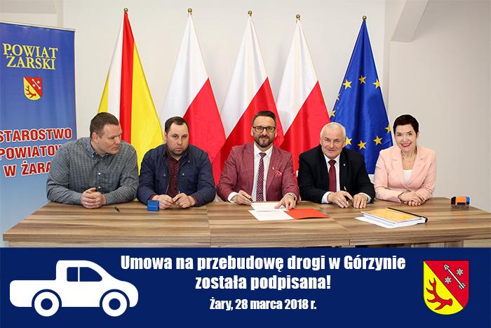 Ilustracja do informacji: Umowa na przebudowę drogi w Górzynie podpisana!