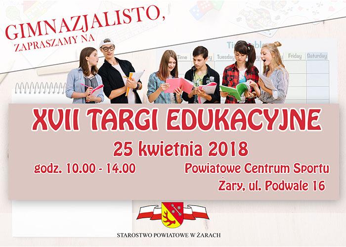 Ilustracja do informacji: Zaproszenie na XVII Targi Edukacyjne