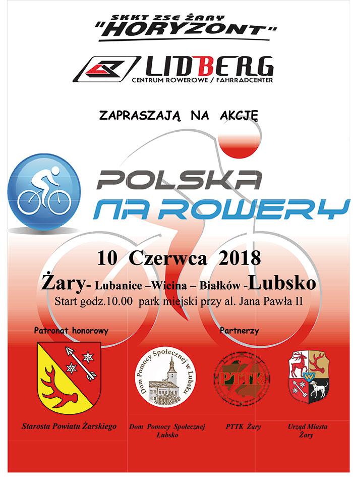 Ilustracja do informacji: Polska na rowery 2018