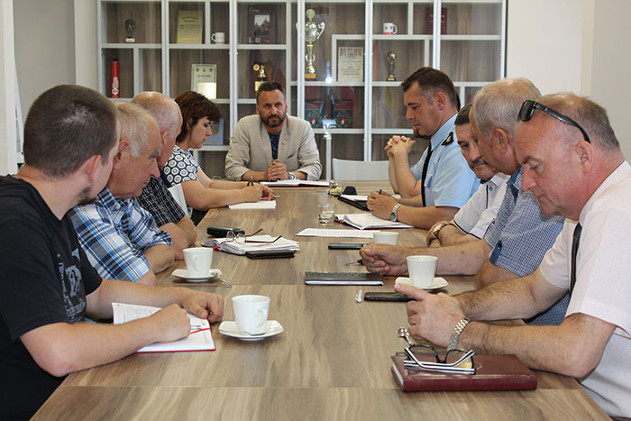 Ilustracja do informacji: Wspólne posiedzenie Zarządu i Komisji Rewizyjnej Oddziału Powiatowego ZOSP RP w Żarach