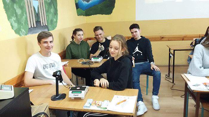 """Ilustracja do informacji: Kurs """"Obsługa kas fiskalnych"""" , który odbył się w dniach 16-18.11.2018r. w Zespole Szkół Ekonomicznych w Żarach"""