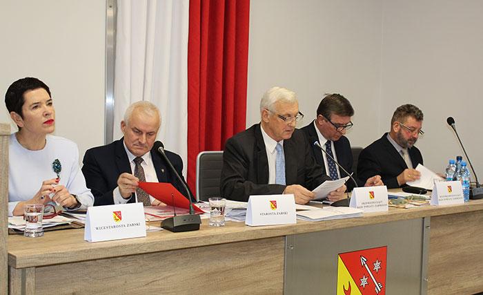 Ilustracja do informacji: II sesja Rady Powiatu Żarskiego