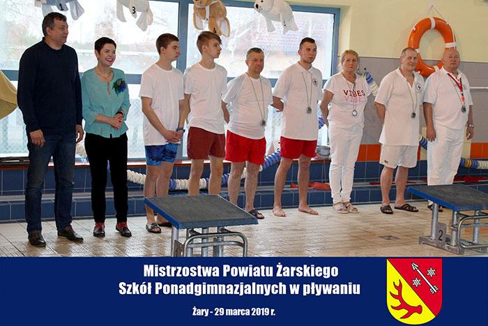 Ilustracja do informacji: Mistrzostwa Powiatu Żarskiego Szkół Ponadgimnazjalnych w pływaniu