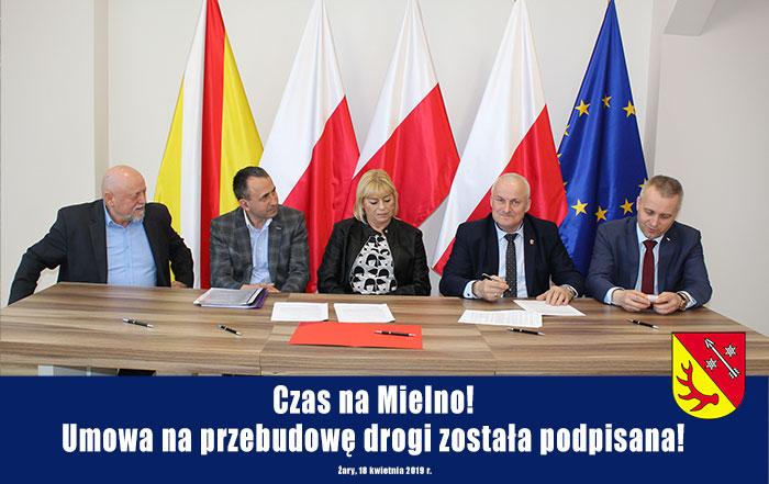 Ilustracja do informacji: Czas na Mielno! Umowa na przebudowę drogi została podpisana!