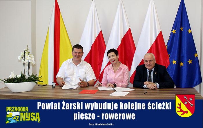 Ilustracja do informacji: Powiat Żarski wybuduje kolejne ścieżki pieszo - rowerowe!