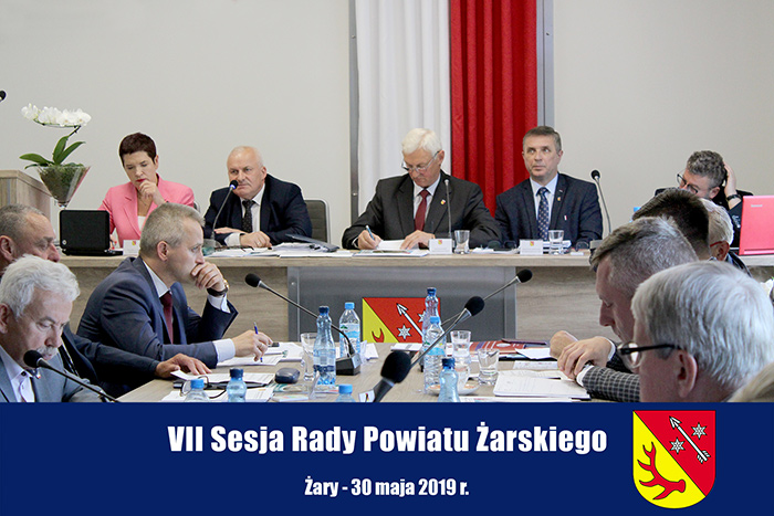 Ilustracja do informacji: VII Sesja Rady Powiatu Żarskiego