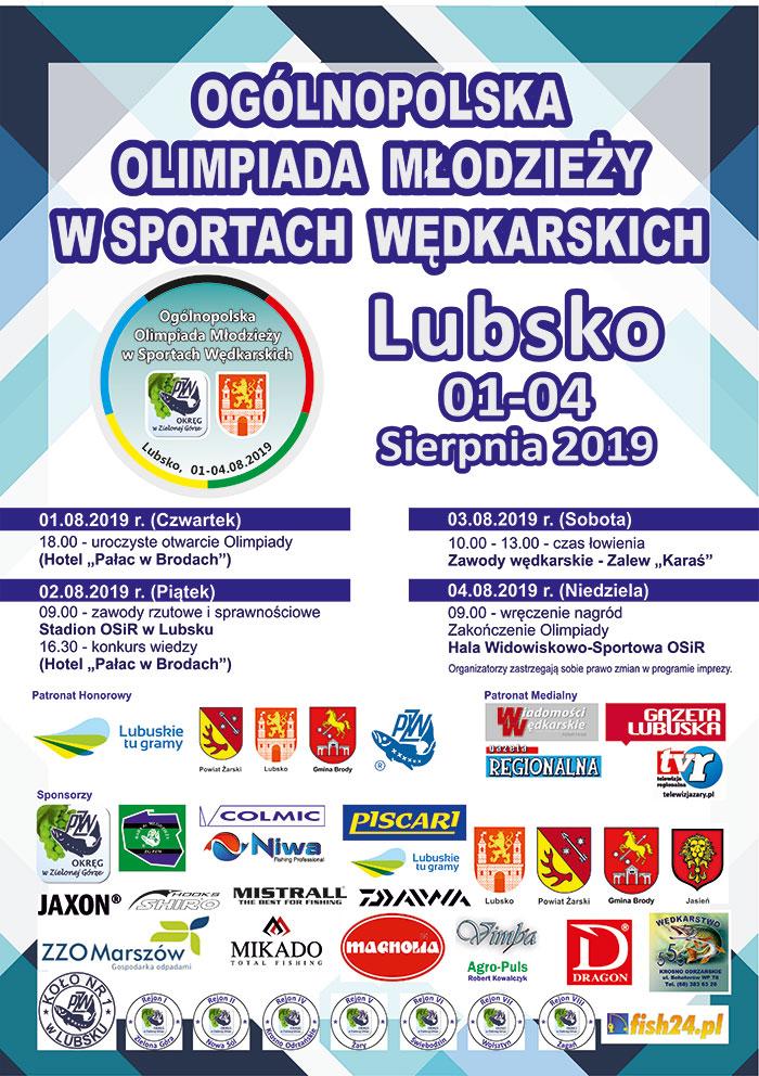 Ilustracja do informacji: Ogólnopolska Olimpiada Młodzieży w Sportach Wędkarskich