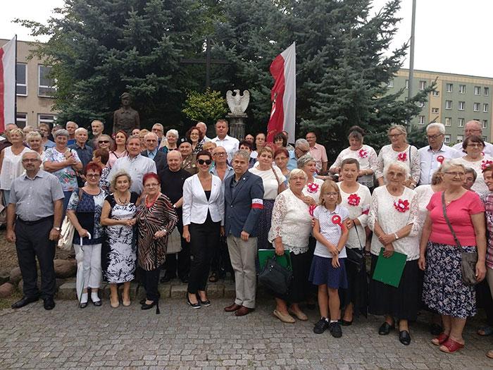 Ilustracja do informacji: Mieszkańcu upamiętnili rocznicę Powstania Warszawskiego