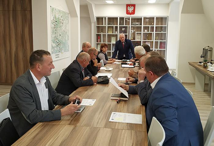 Ilustracja do informacji: Posiedzenie Zarządu i Komisji Rewizyjnej Oddziału Powiatowego ZOSP w Żarach