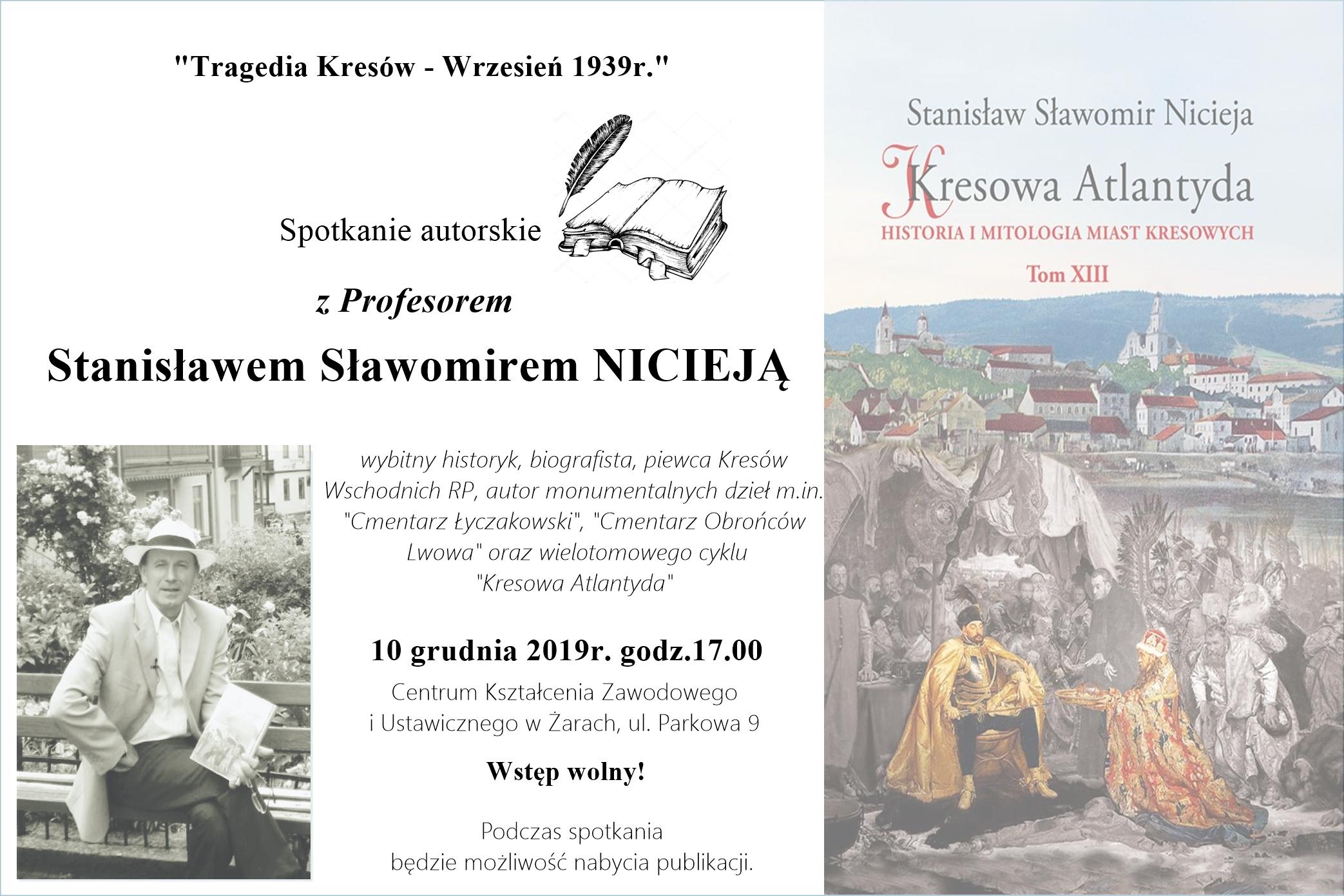 Ilustracja do informacji: Spotkanie autorskie z prof. Stanisławem Nicieją