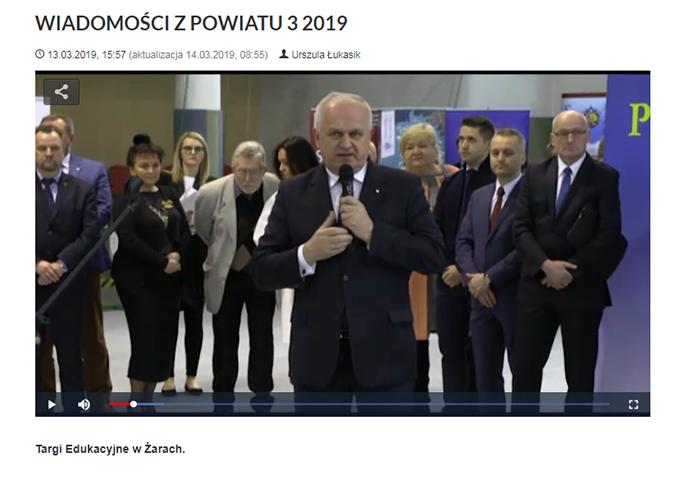 Ilustracja do informacji: WIADOMOŚCI Z POWIATU 3/2019