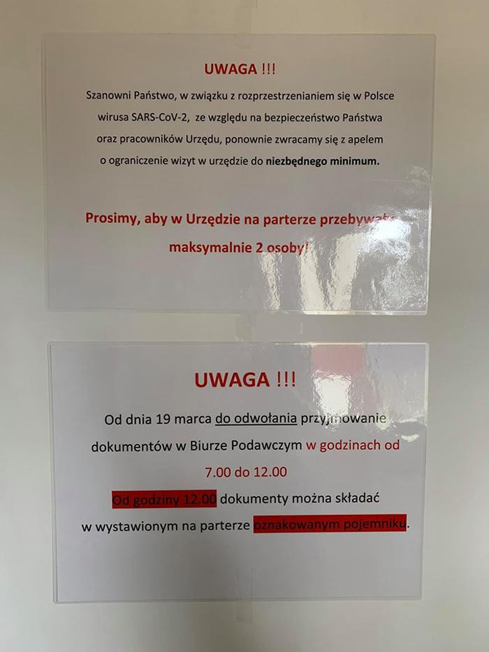 Ilustracja do informacji: AKTUALIZACJA- zmiana organizacji dostarczania dokumentów do Starostwa Powiatowego w Żarach