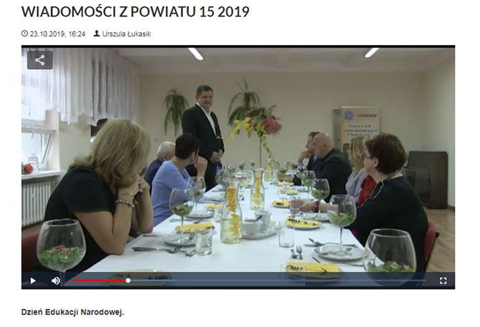 Ilustracja do informacji: WIADOMOŚCI Z POWIATU 15/2019
