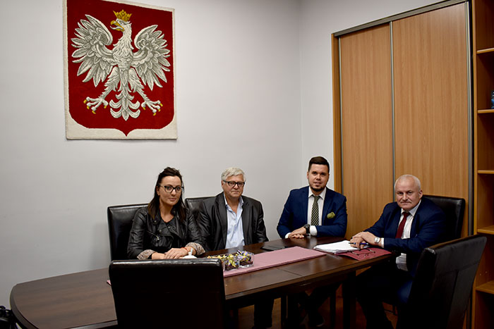 Ilustracja do informacji: Spotkanie Starosty i Członka Zarządu z przedstawicielami Rady Sołeckiej miejscowości Koło