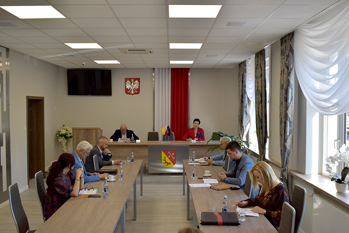 Ilustracja do informacji: Posiedzenie Zarządu Powiatu Żarskiego