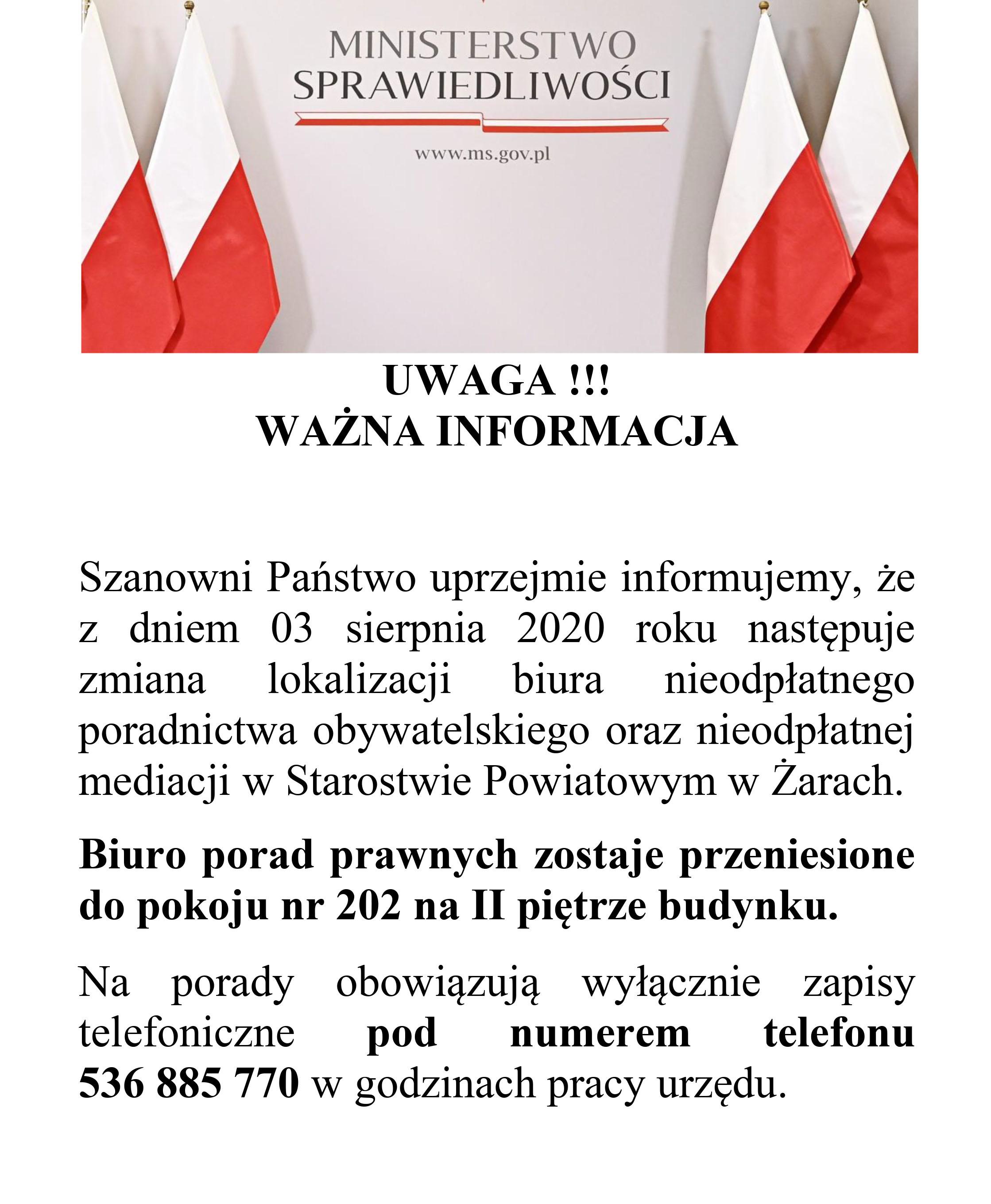 Ilustracja do informacji: Ważna informacja!