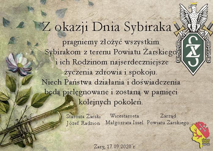Ilustracja do informacji: Dzień Sybiraka