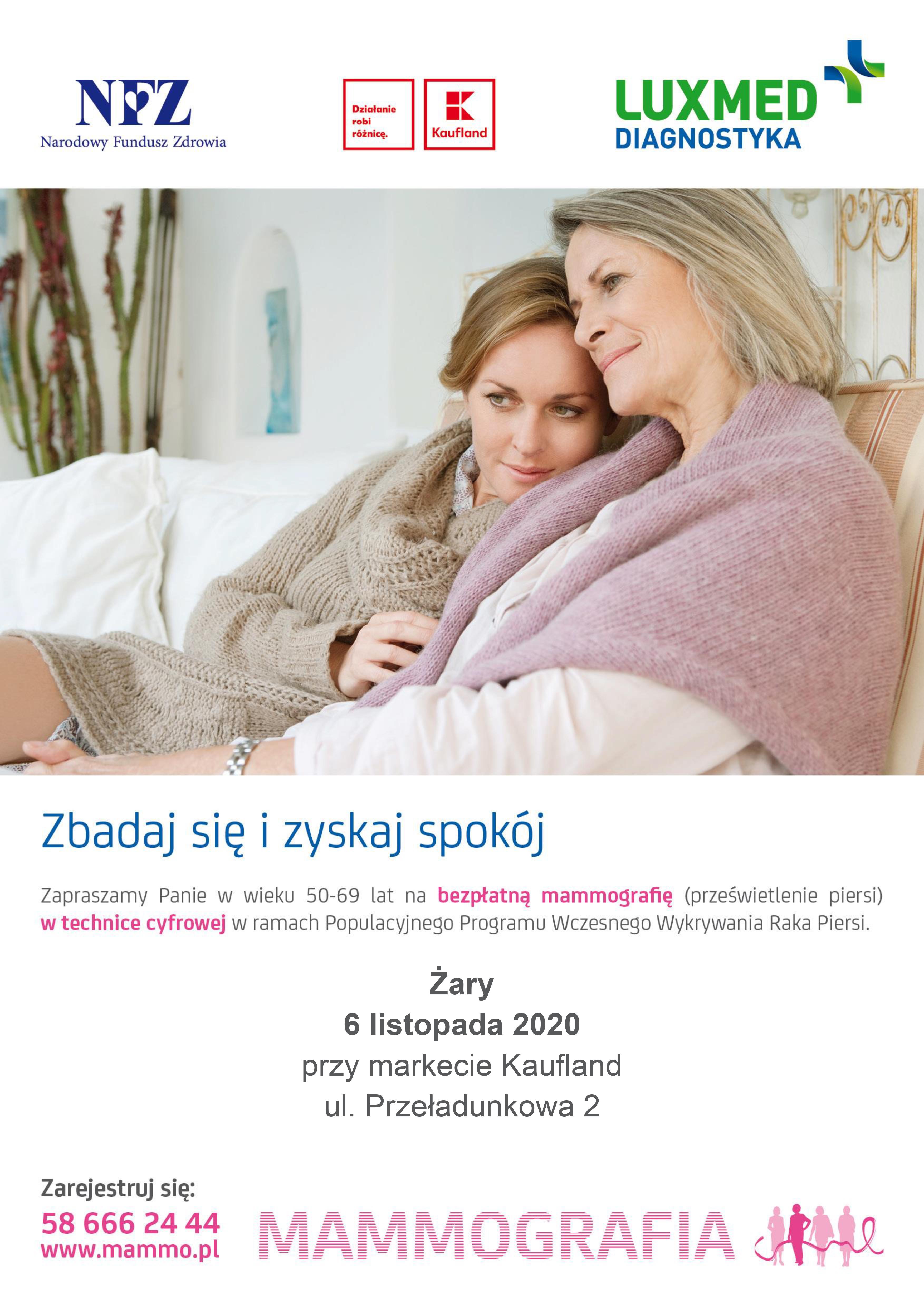 Ilustracja do informacji: Bezpłatne badania mammograficzne w Żarach