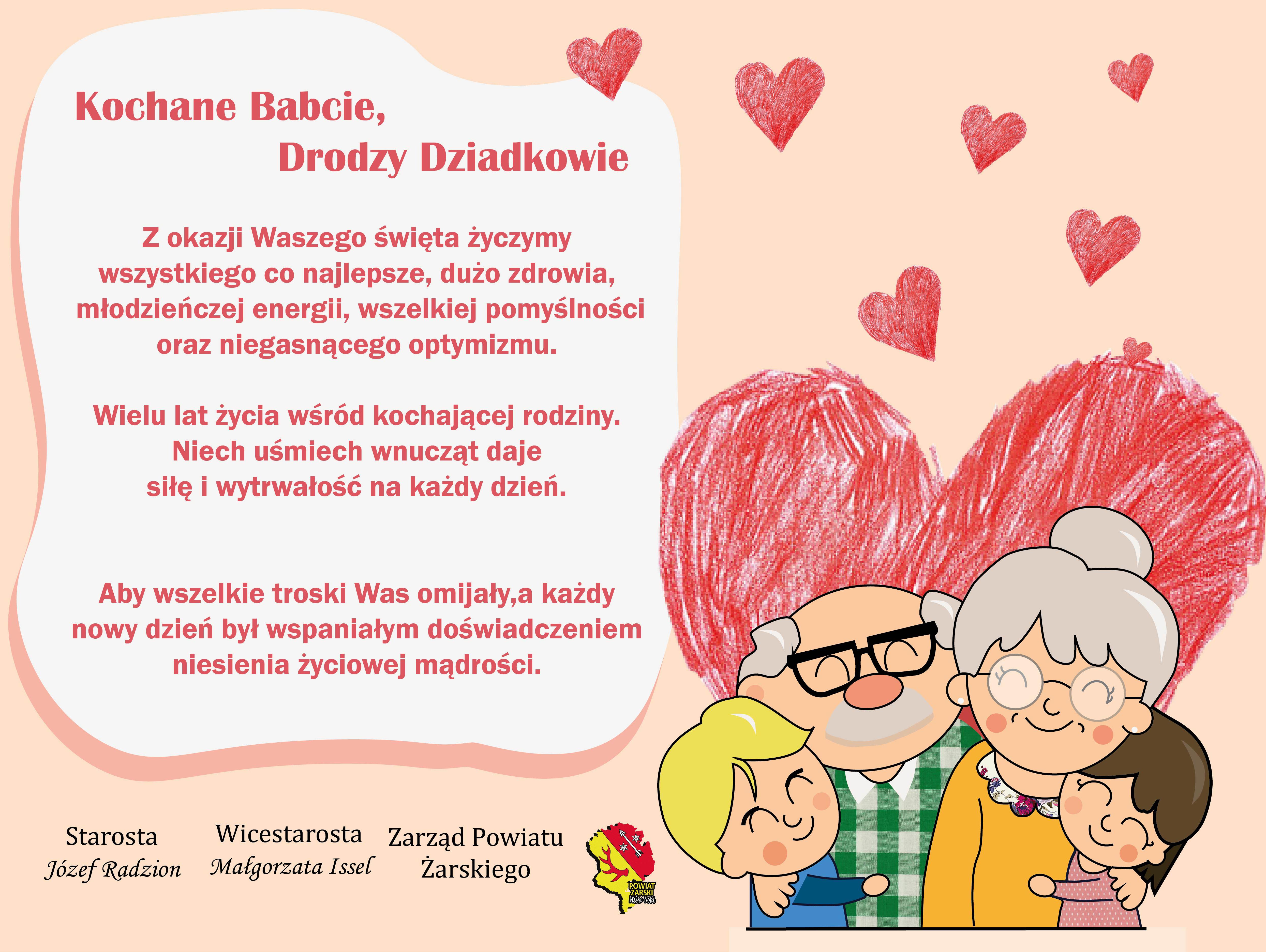 Ilustracja do informacji: Życzenia na dzień Babci i Dziadka