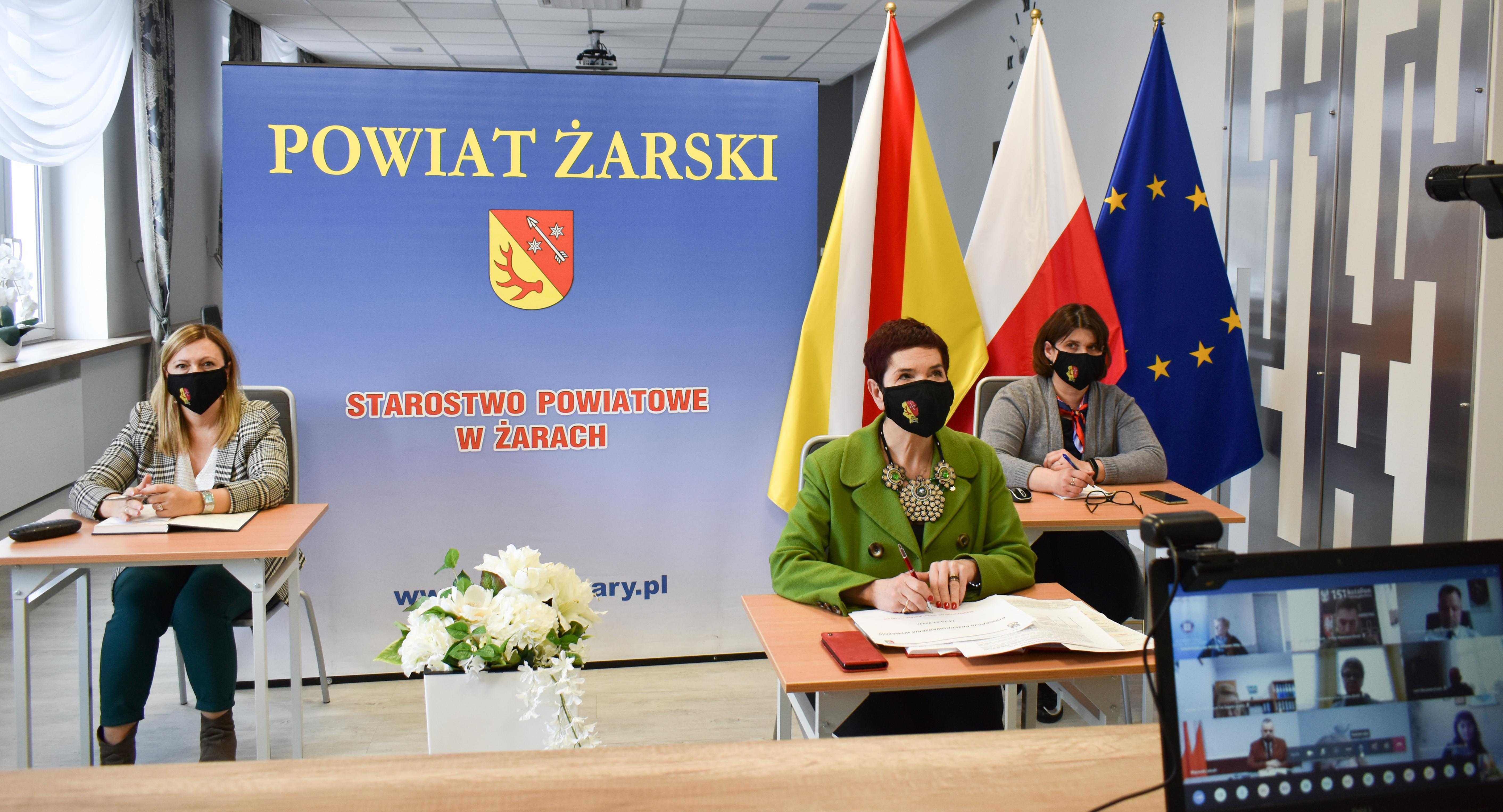 Ilustracja do informacji: Wideokonferencja z Lubuskim Urzędem Wojewódzkim.