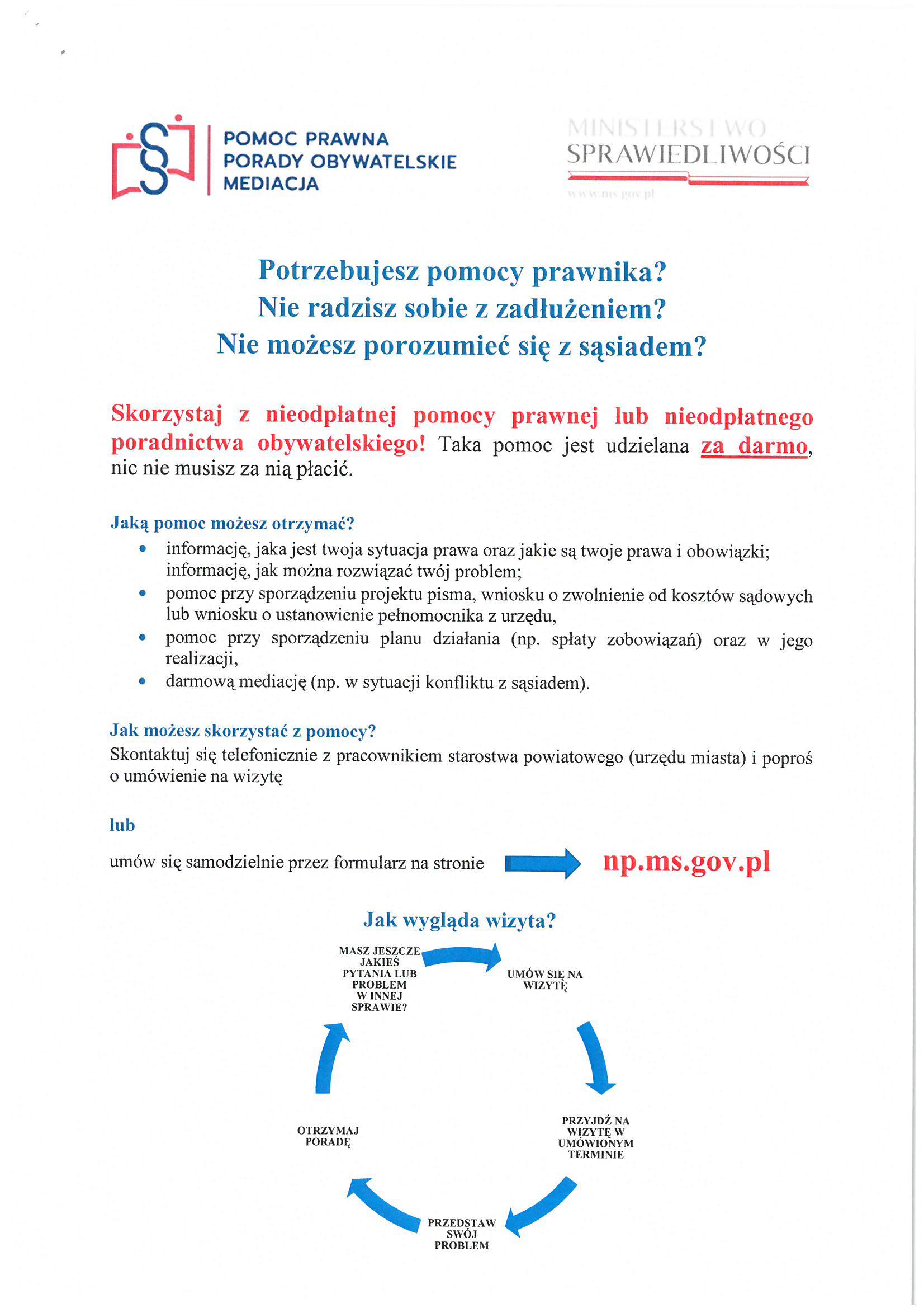 Ilustracja do informacji: Nieodpłatna pomoc prawna
