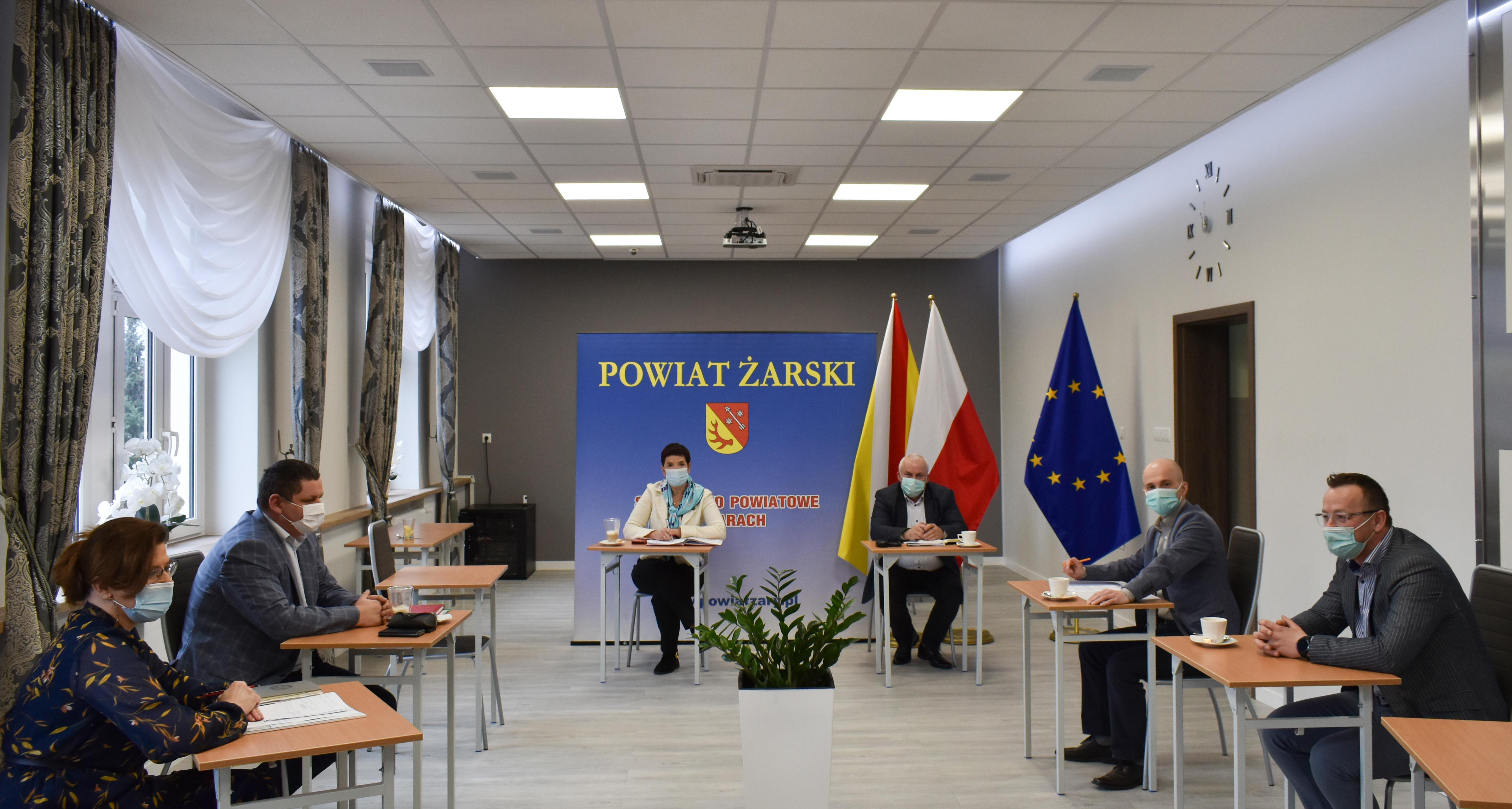 Ilustracja do informacji: Spotkanie Władz Powiatu z Komendantami Lubuskiej Wojewódzkiej Komendy OHP.