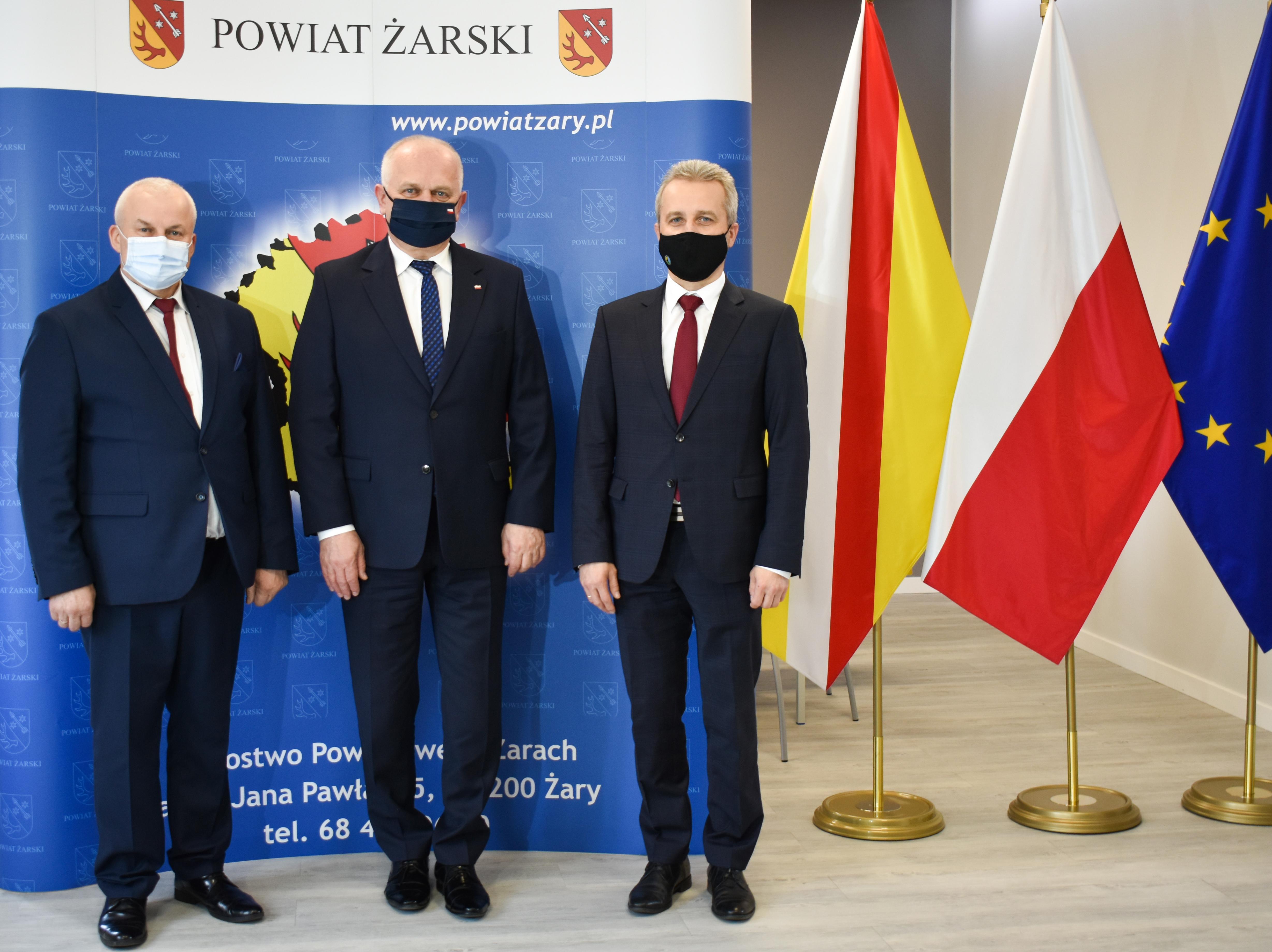 Ilustracja do informacji: Spotkanie z Wojewodą Lubuskim.