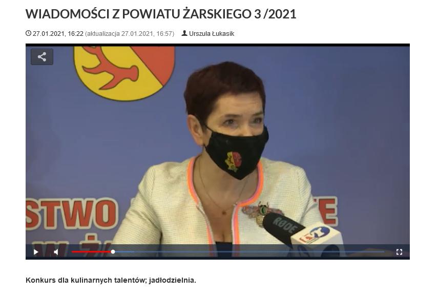 Ilustracja do informacji: WIADOMOŚCI Z POWIATU ŻARSKIEGO 3/2021