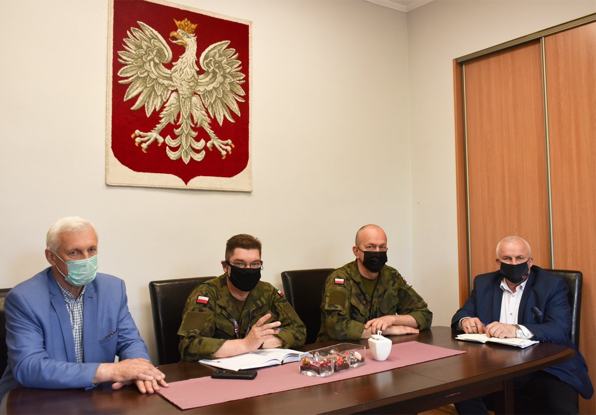Ilustracja do informacji: Spotkanie z Komendantem Wojskowej Komendy Uzupełnień